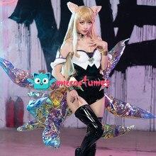 ゲーム笑 コスプレ衣装の女性ハロウィン衣装衣装 18K/ダポップスター女の子 Ahri