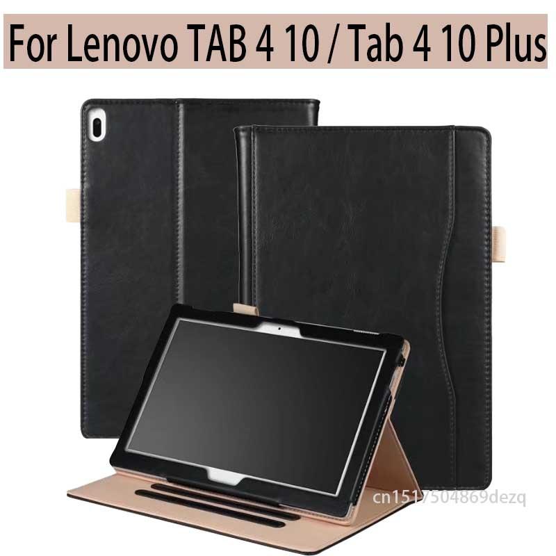 2017 nouveau Cas Pour Lenovo TAB 4 10 TB-X304F/N/tab 4 10 Plus TB-X704F/N 10.1 pouce Tablet PU cuir Smart Cover + Stylus