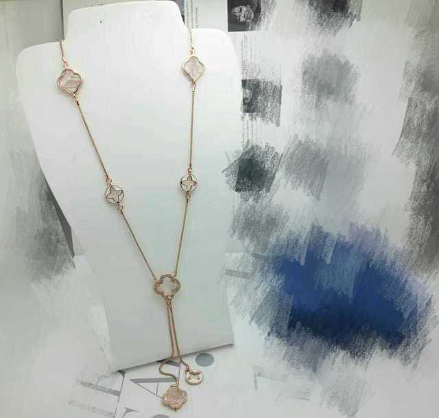 Moda trevo de quatro folhas colar de projeto de longo elegante agradável acessórios de presente das mulheres