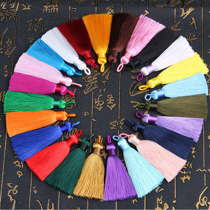 12pcs/lot tassel silk fringe sewing bangs flower tassel trim decorative pendant tassels for curtains home decoration accessories