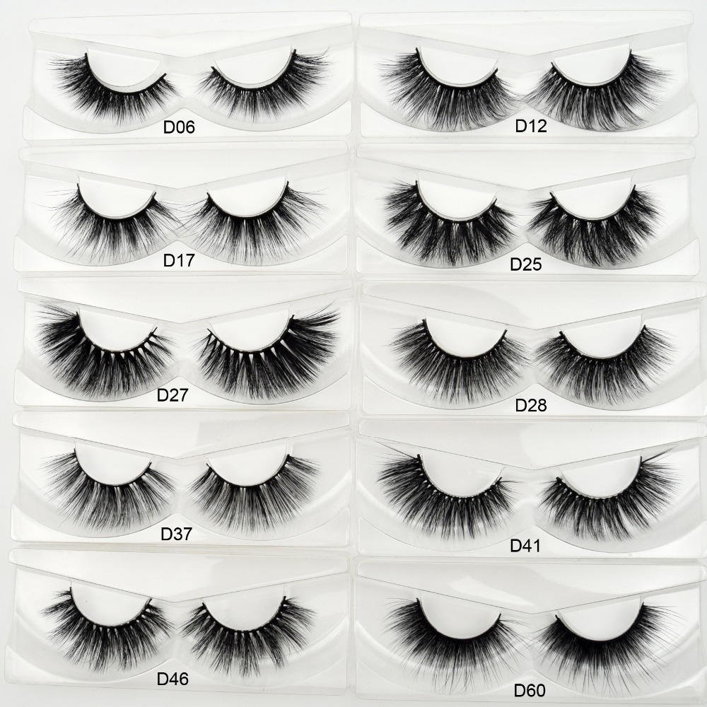Visofree 3D Silk Eyelashes Handmade Full Strip Lashes Thick False Eyelashes Makeup Silk Eye