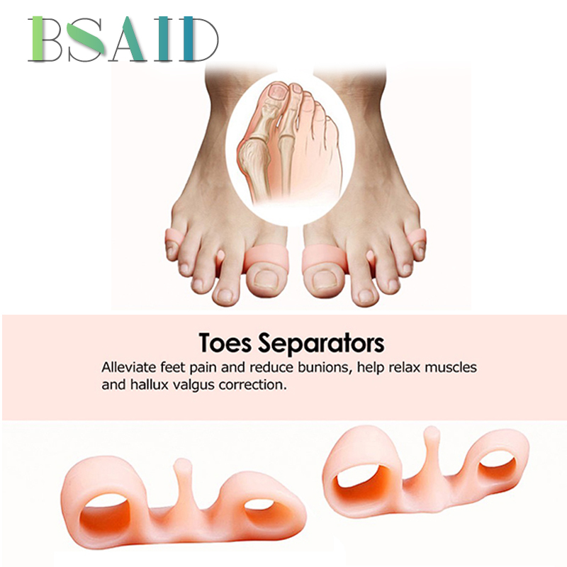BSAID 1 Pair Thumb Valgus Orthopedic Braces Silicone Orthotics Insoles Corrector Big Toe Care Thumb Correction Forefoot Toe Pads thumb valgus corrector large bone can wear shoes big toe divider day and night adults available