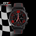 GT WATCH Brand Grand Touring Men Women Silicone Strap Quartz Watch F1 Car Racing Style Military Sports Wristwatch 2016 New