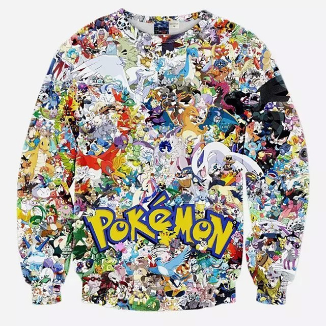 Hoodies Pokemon Hip Hop 3D Crewneck Sweatshirt Fashion Brand Anime Slim Fit Casual Streetwear Hoodies Men Polo Sweat Suit