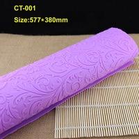 Wholesale 10Pcs Lot CT 001 Leaf Shape Soft Purple 100 Platinum Silicone Cake Fondant Embossing Gum
