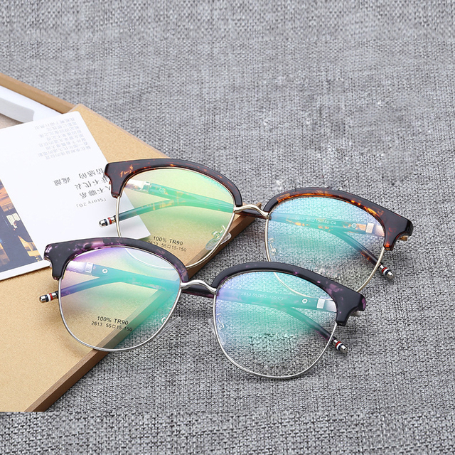 2017 vintage Round clear computer lens glasses retro glasses women optical fashion prescription eyewear mens Spectacles 2613