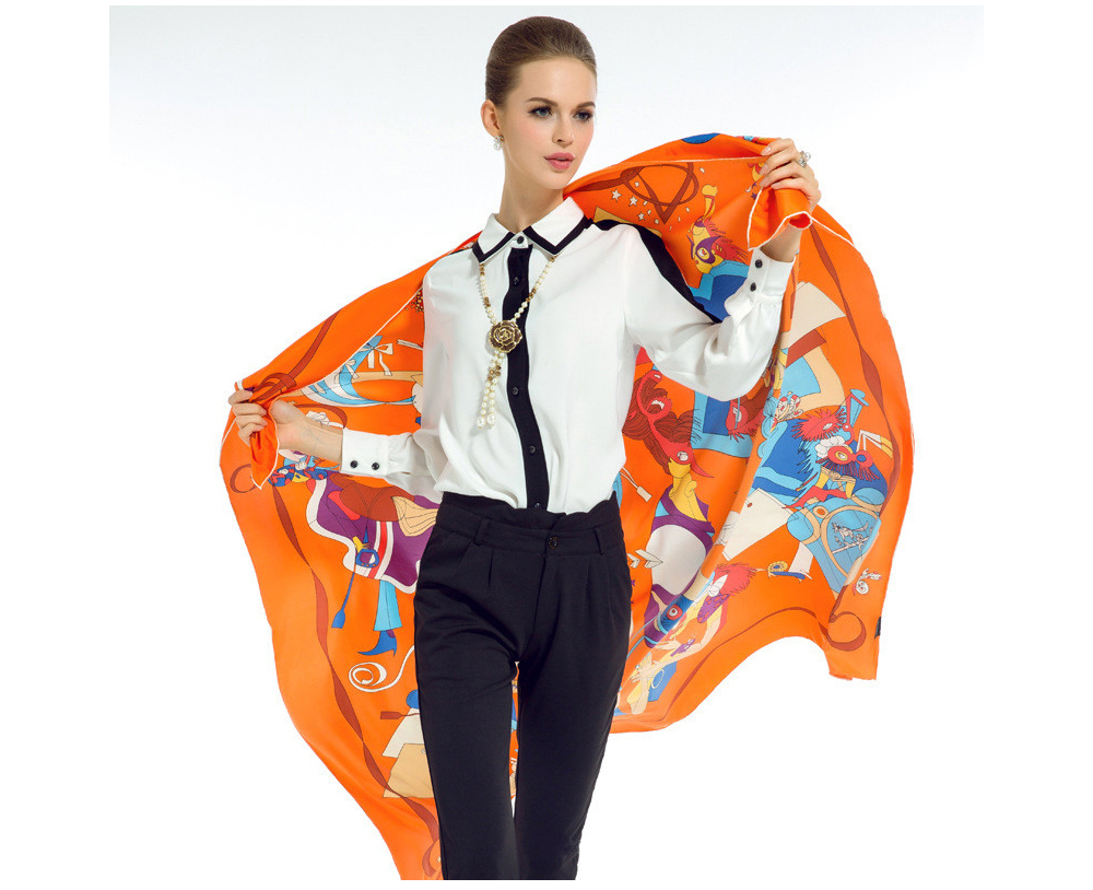 Silk Print Pashmina (9)