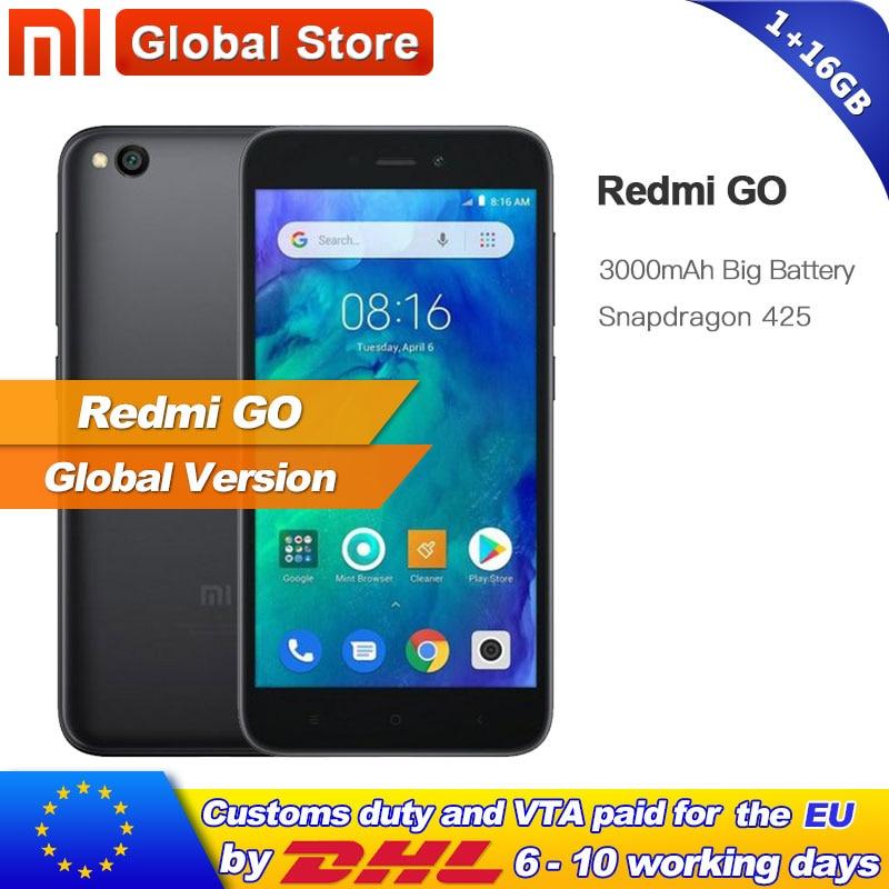 Global Version Xiaomi Redmi Go 1GB ram 16GB rom Snapdragon 425 Quad Core Smartphone Phone 16