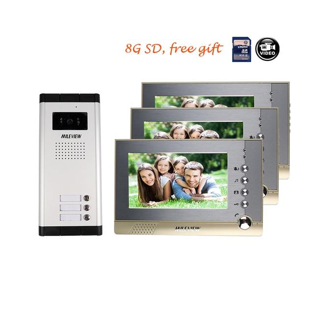 Brand New 7\  Color Video Door Phone Intercom System + 3 Recording Monitors + Outdoor  sc 1 st  AliExpress.com & Brand New 7\