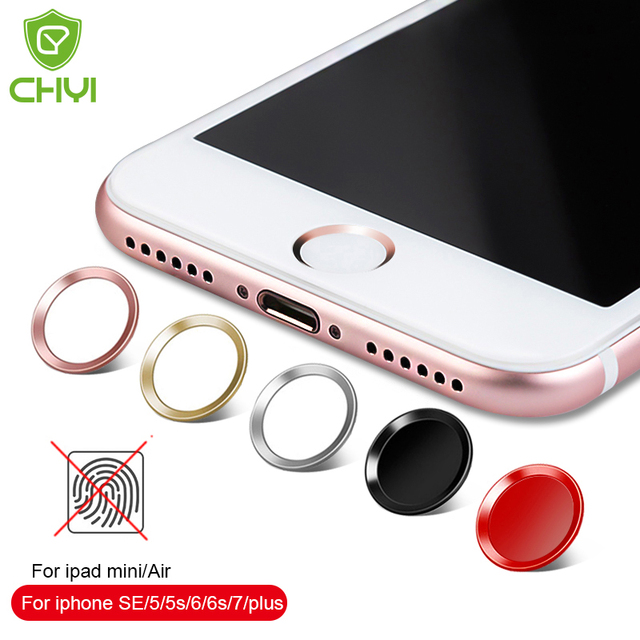 iphone home button sticker chyi aluminum touch id home button sticker for iphone 8 7 3796