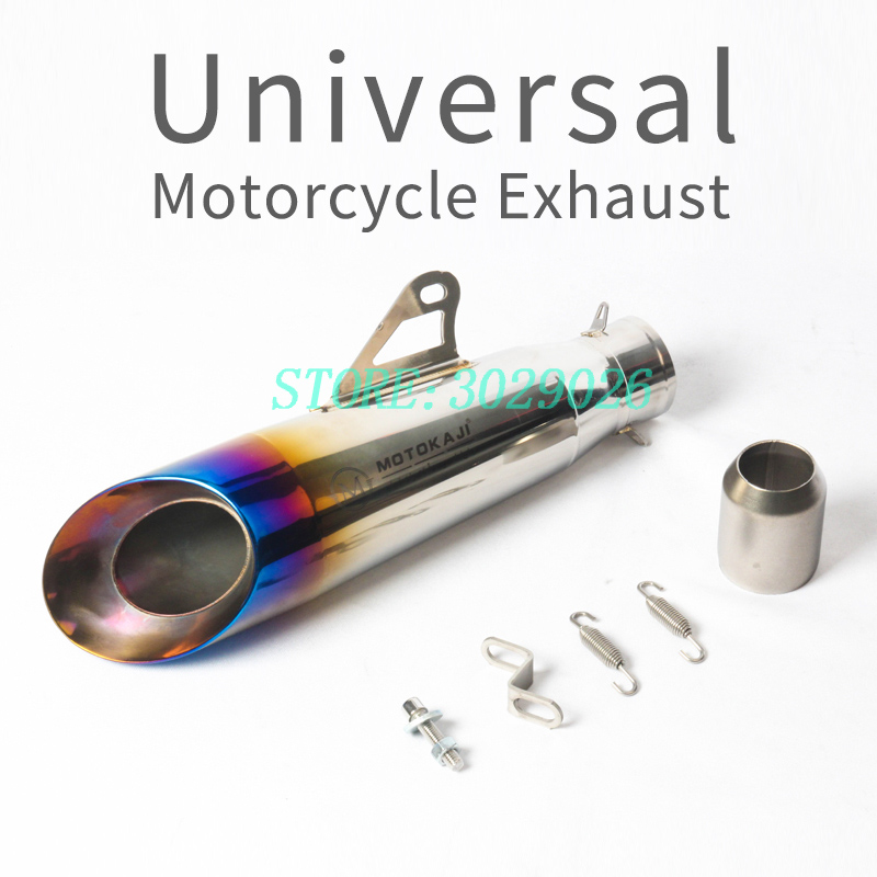 36-51MM Universal Motorcycle Exhaust Muffler dirt bike exhaust escape Modified Scooter for most moto for most motorcycle ATV motorcycle gp exhaust universal muffler 38 51mm slip on for dirt bike street bike scooter atv quad new