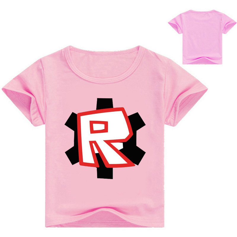 2018 Kids Teens Clothes Boys Funny T Shirt Game Roblox Cotton T-shirt Boy Costume Shirts Children Tees 3-14 Year Girl Costume