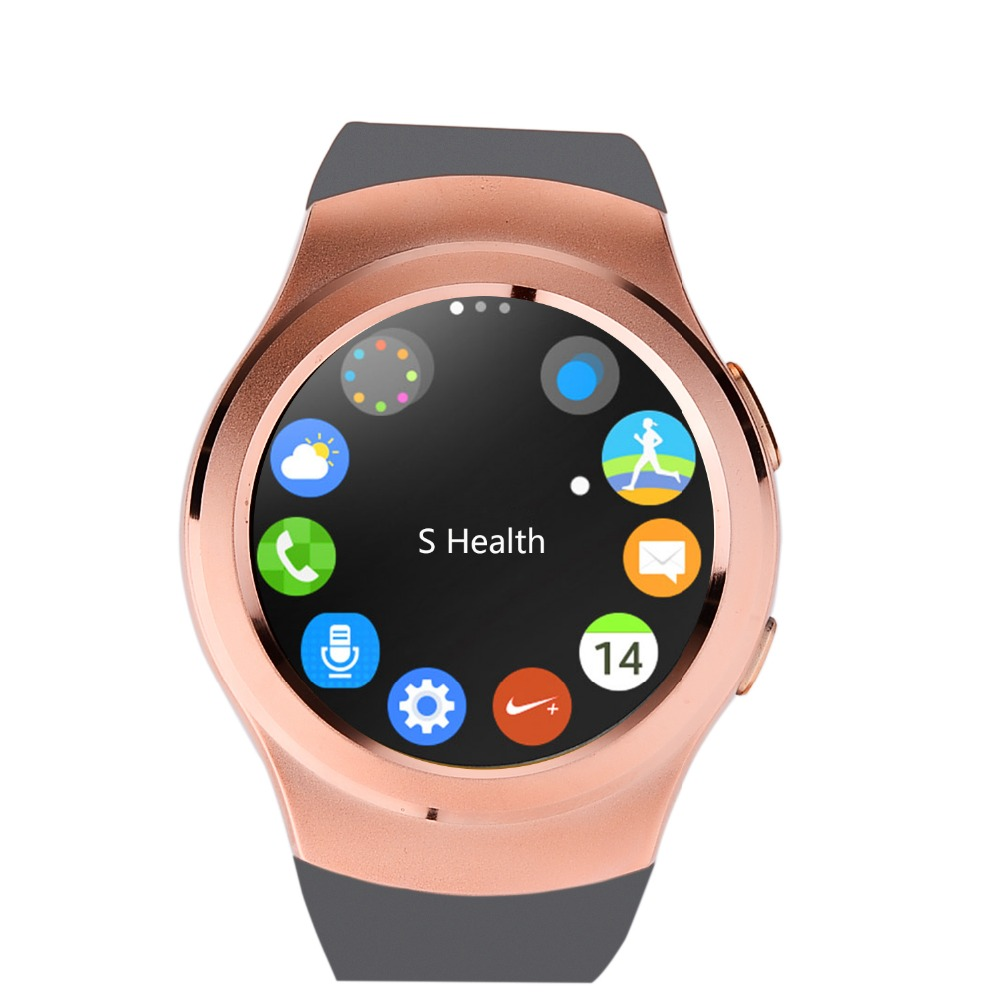 Full Circular IPS Touch Screen Smart Watch support SIM TF card Battery 380mAh Color Black White