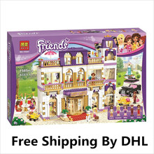 BELA 10547 Girl Series Heart Lake City Hotel Girl Friends Building Blocks Minifigures Bricks Toys Compatible with Legoe  218