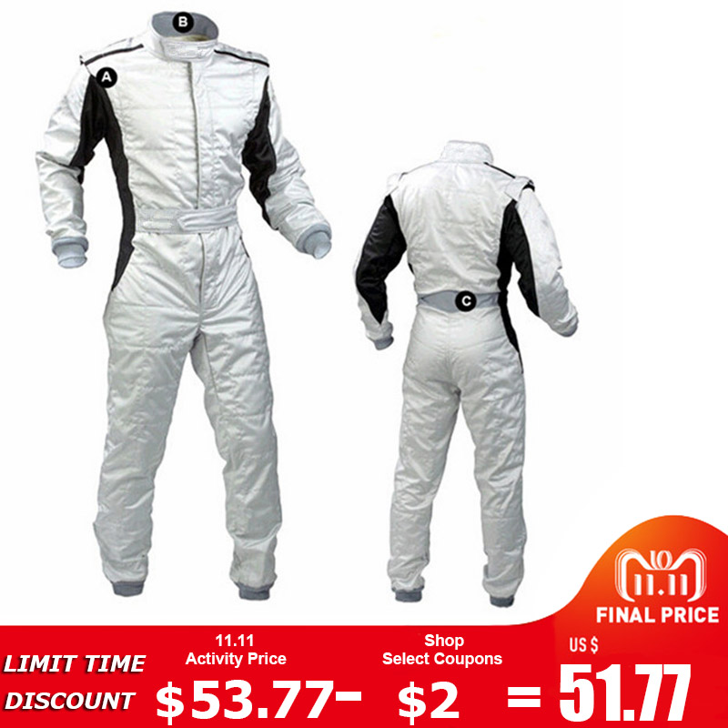 2018 High quality New Arrival Karting Suit Car Motorcycle Racing Club Exercise Clothing Overalls Stig Suit Two Layer Waterproof motorbike racing suit children combinaison course automobile kids chaqueta moto mujer baby car karting suit motorcycle suit car