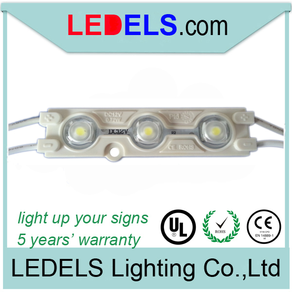 100pcs/lot 0.72w 12v 66lm backlight led module 5050 FOR CHANNEL LETTER SIGNAGE