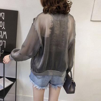 Summer Jacket Women Sunscreen Coat 2019 Casual Perspective Long Sleeve Women's Jacket Thin Breathable Beach Cardigan coats 33