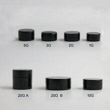 100 x маленькая коробка для баночек, 1 г, 2 г, 3 г, 5 г, 10 г, 20 г, контейнер для хранения косметических бусин для маникюра, черного цвета, переносная банка для крема
