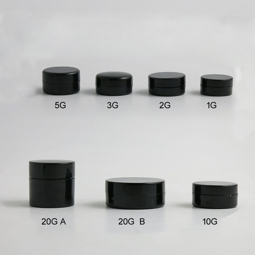 100 x Travel Small 1g 2g 3g 5g 10g 20g jars Pot Box Makeup Nail Art Cosmetic Bead Storage Container Black Portable Cream Jar 12pcs 20g amber glass cream jars cosmetic packaging with lid black plastic caps