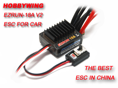 F17805 Hobbywing  18A V2  2 3S Lipo Speed Controller Brushless ESC BEC Output 6V/1.5A  for 1/16 1/18 RC Car