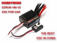 F17805 Hobbywing 18A V2 2 3S Lipo hız kontrol fırçasız ESC BEC çıkışı 6 V/1.5A için 1/16 1/18 RC araba