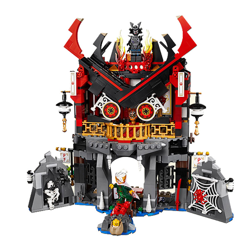 857pcs Ninjagoe Temple Model Building Blocks With Ninjia Action Figures Bricks Compatible Legoings Model Toys For Children Gifts 20cm ogrum 44007 robot brain attack hero factory 5 0 star soldier action figures model building bricks blocks kids toys gifts