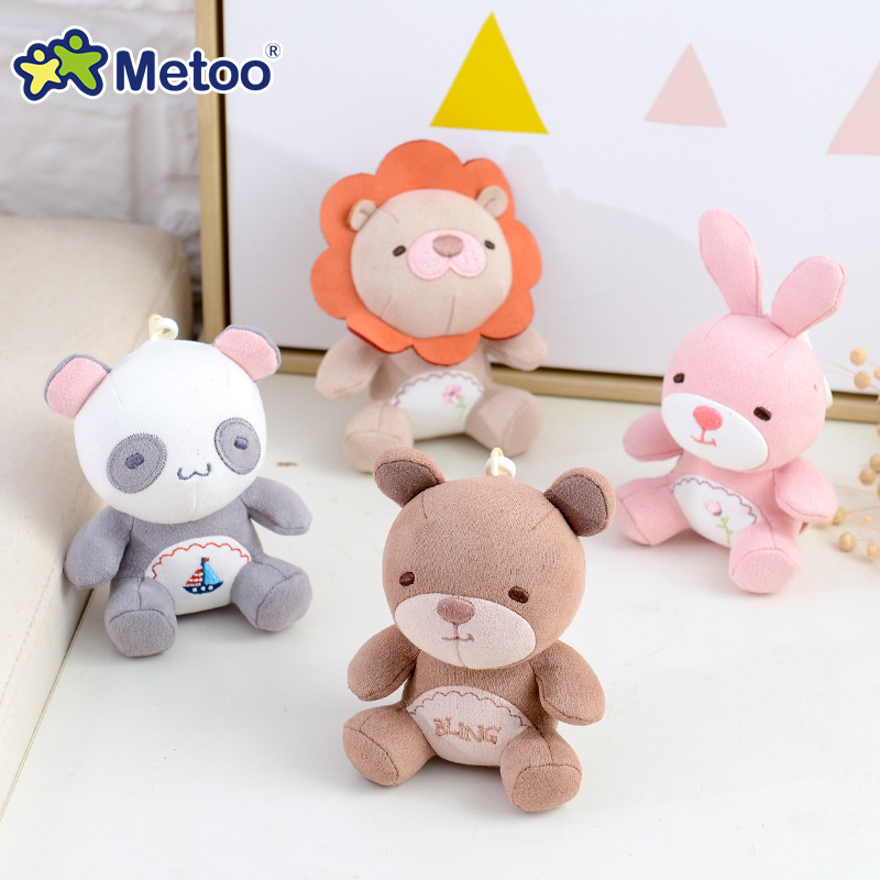 Metoo Doll Soft Plush Toys Stuffed Animals For Girls Baby Mini Pendant Cute Cartoon Rabbit For Kid Boy Christmas Birthday Gift