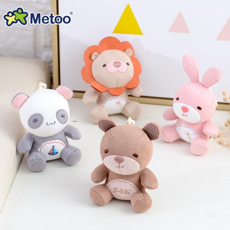 Metoo Doll Soft Plush Toys Stuffed Animals For Girls Baby Mini Pendant Cute Cartoon Rabbit For Kid Boy Christmas Birthday Gift