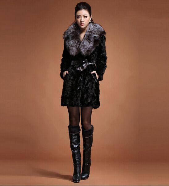 Jackets & Coats Expressive Plus Size Faux Fur Coat 2019 Casaco Feminino Mink Women Medium-long Fox Fur Collar Mink Fur Thick Mink Winter Outwear X805 Making Things Convenient For Customers Women's Clothing