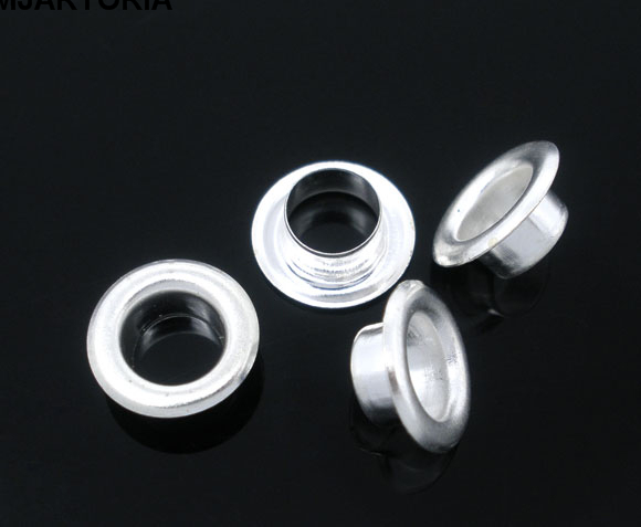 MJARTORIA 250 Pairs Silver Plated Cores. Fits Charm Bracelet Glass Beads(5.5mm Hole)