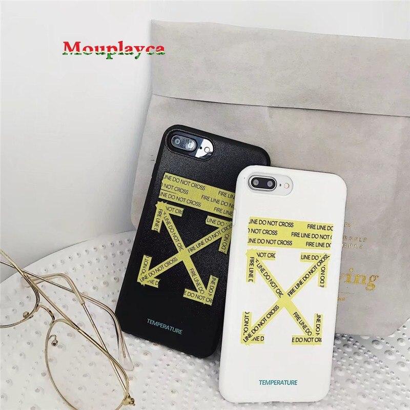 Mouplayca предупреждающий знак чехол для iPhone 7 7 плюс 8 8 плюс iPhone X 6 6S 6S плюс гриддинга Мягкая обложка модная чехол для телефона Coque