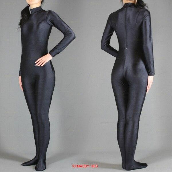 Hot Pink//Black Zentai Lycra Catsuit full boby catsuit S-XXL