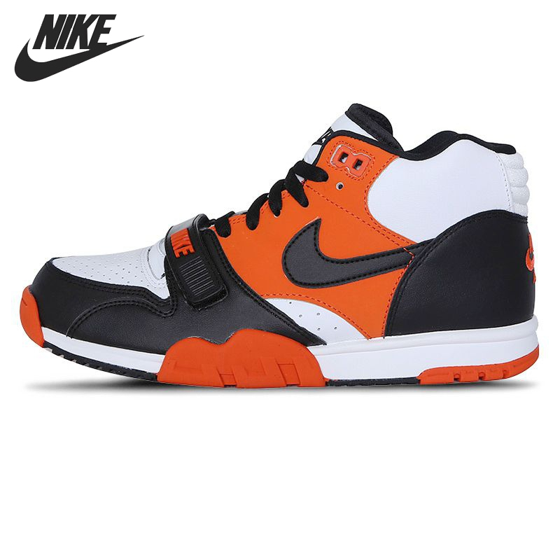 Original NIKE Air trainer 1 mid men's Skateboarding Shoes sneakers nike air force 1 mid женские