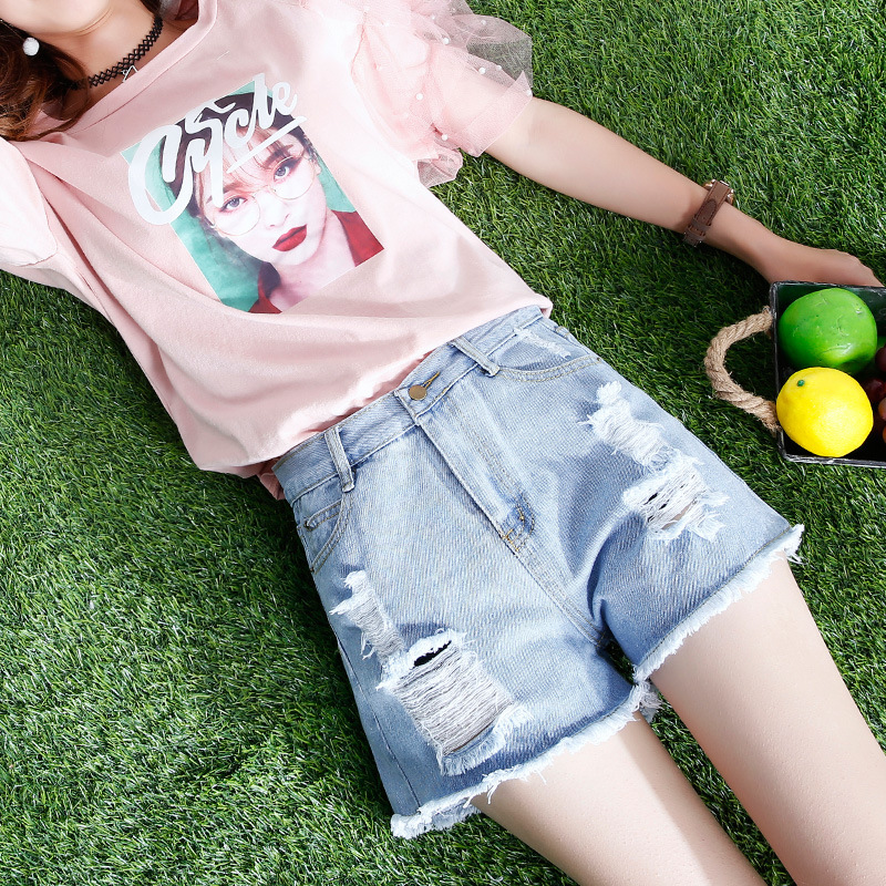 2018 Summer High Waist Denim Shorts Women New Fashion Slim Casual Short Feminino Hot Jeans Mujer Plus Size Shorts
