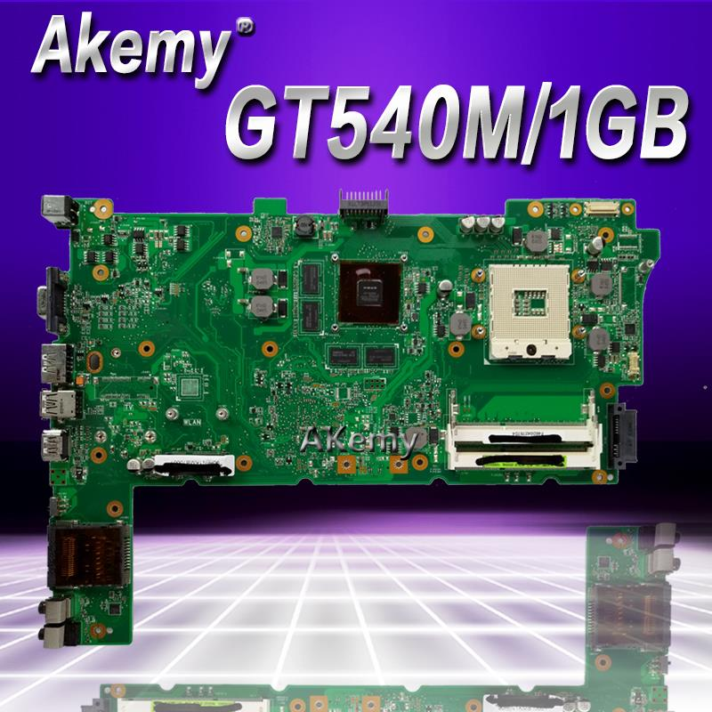 Akemy N73SV Laptop motherboard REV.2.0 For ASUS N73SV N73SM N73S PGA989 3 <font><b>RAM</b></font> SLOT With GT540M/1GB Graphic <font><b>DDR3</b></font> Full test image