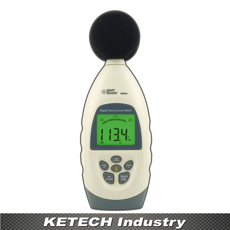 AR844 Digital Sound Level Meter Noise Level Tester Decibel Meter 30~130dB sound size tester bar decibel meter noise tester electronic noise meter sound level meter decibel tester for bar 123x75x27mm