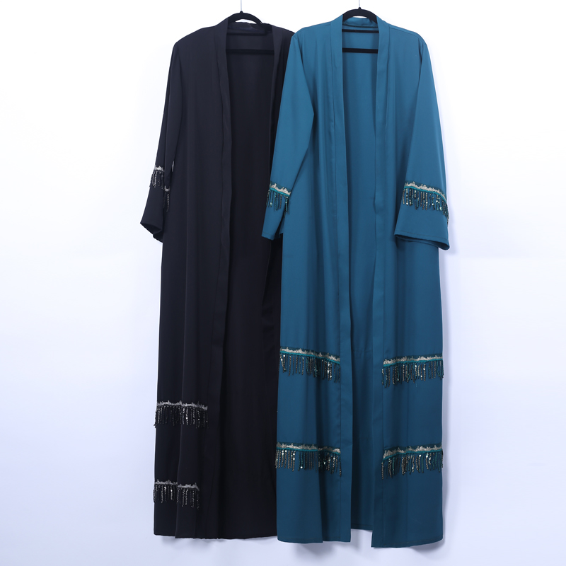 Sequin Open Abaya Dubai Hijab Muslim Dress Kaftan Abayas For Women Caftan Islamic Clothing Robe Kimono Cardigan Turkish Dresses