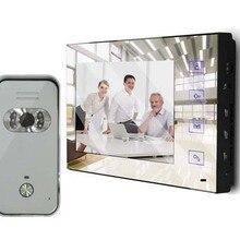 """XinSiLu последняя модель """" полноцветный ЖК-дисплей с зеркальным экраном видео-телефон двери для виллы домашней автоматизации безопасности домофон 1V1"""