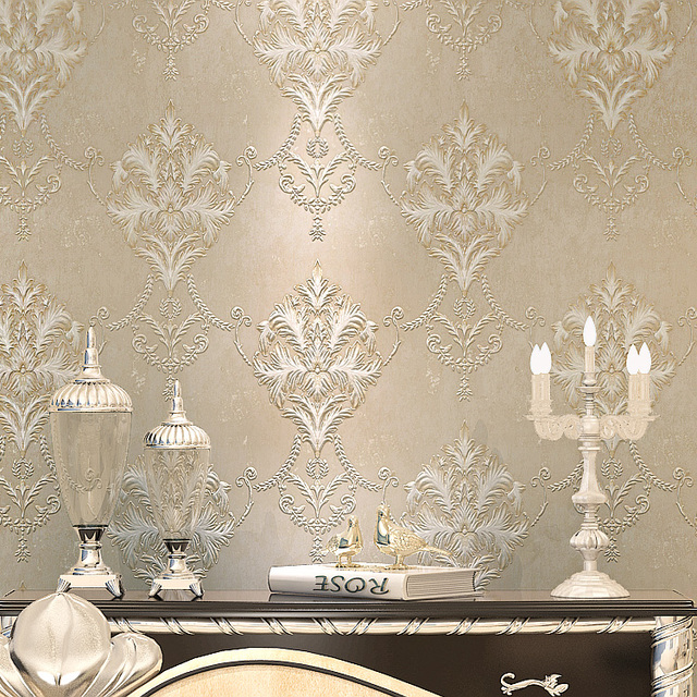 Elegant Wallpaper For Wall: NEW Elegant Simple European Big Flowers Wallpaper Nonwoven
