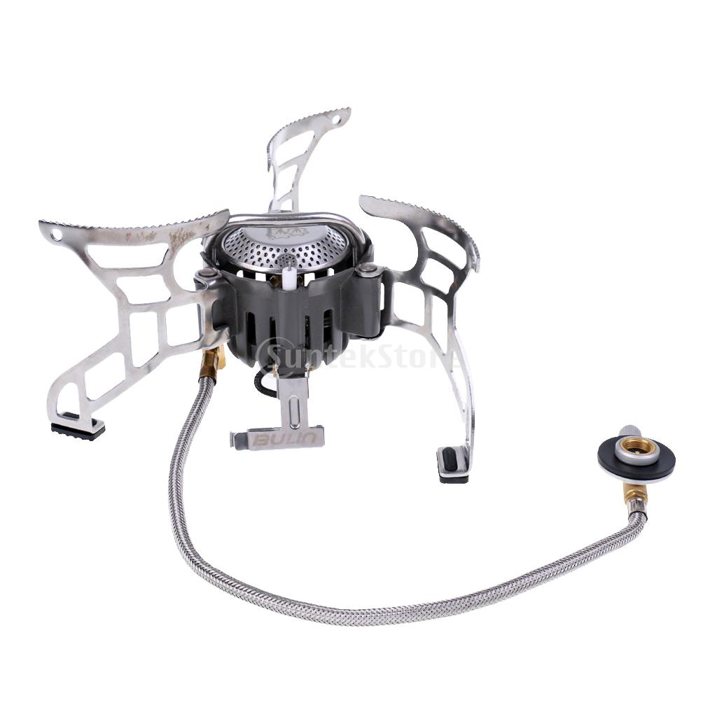 Portable Outdoor Folding Gas Stove Mini Split Burner Backpacking Hiking Camping Picnic Cooking Cook Tool цена и фото
