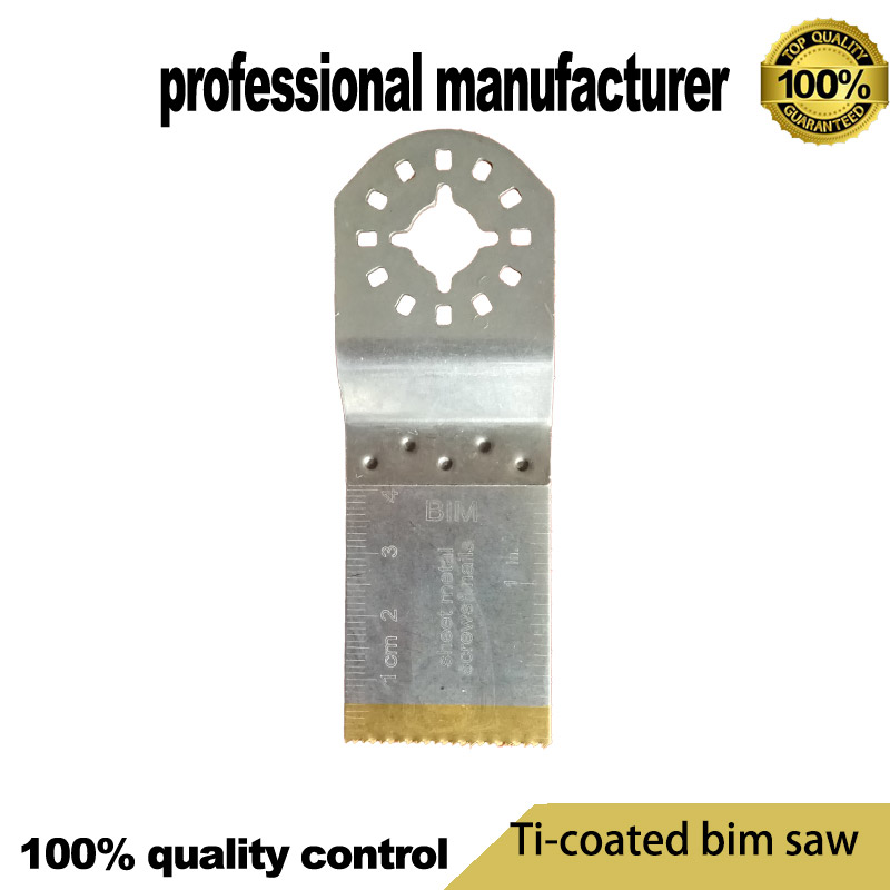 Titanium Coating 32mm  BIM Oscillating Tool Blade With Clear Ruler  For Tch Multimaster Tool  For Wood With Nails Metal Working
