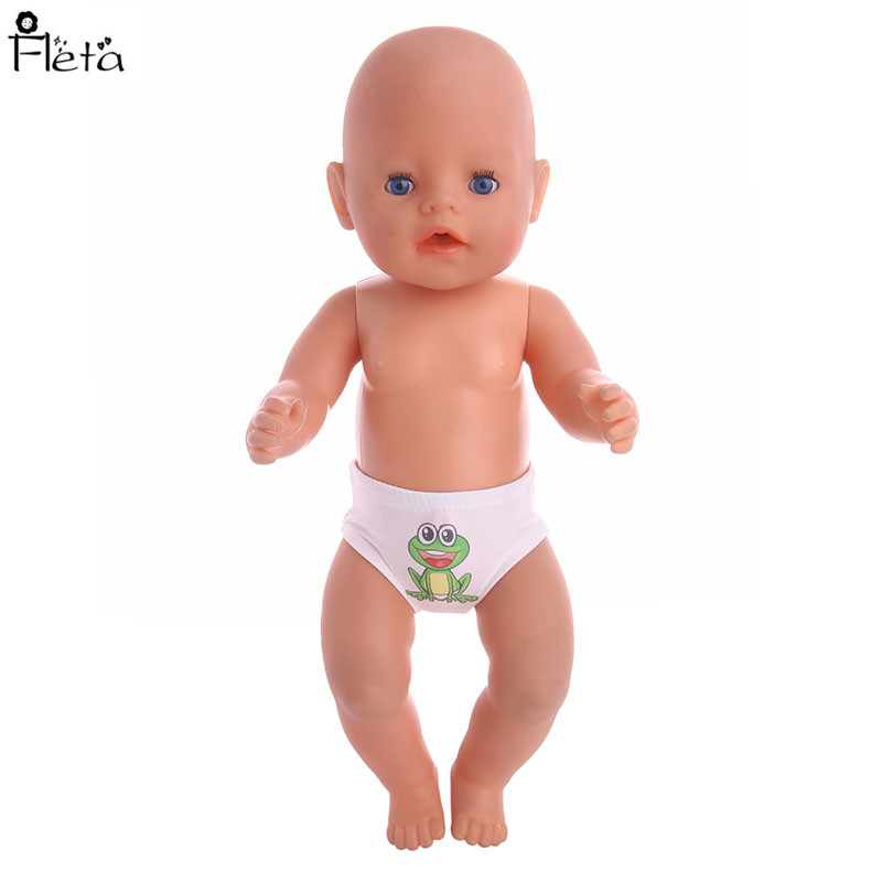 Doll Accessories Baby Born Doll frog pattern Doll Underpants Fit 43cm Baby Born Zapf Dollor american