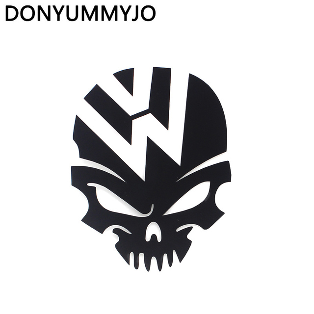 Skull car sticker demon decal fuel tank cover door window bumper trunk motorcycle helmet for volkswagen
