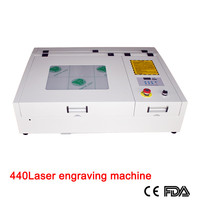 50W CO2 Laser engraver machine 400*400mm 440 with square inner guide rail