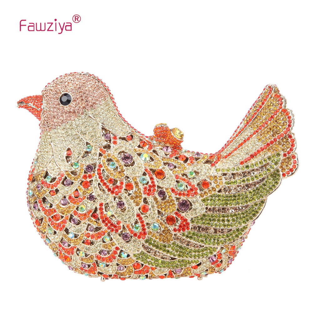Fawziya Bird Clutch Bags for Womens Evening Bag Hard Case Rhinestone Clutch маска airhole airtube super stretch fluro green