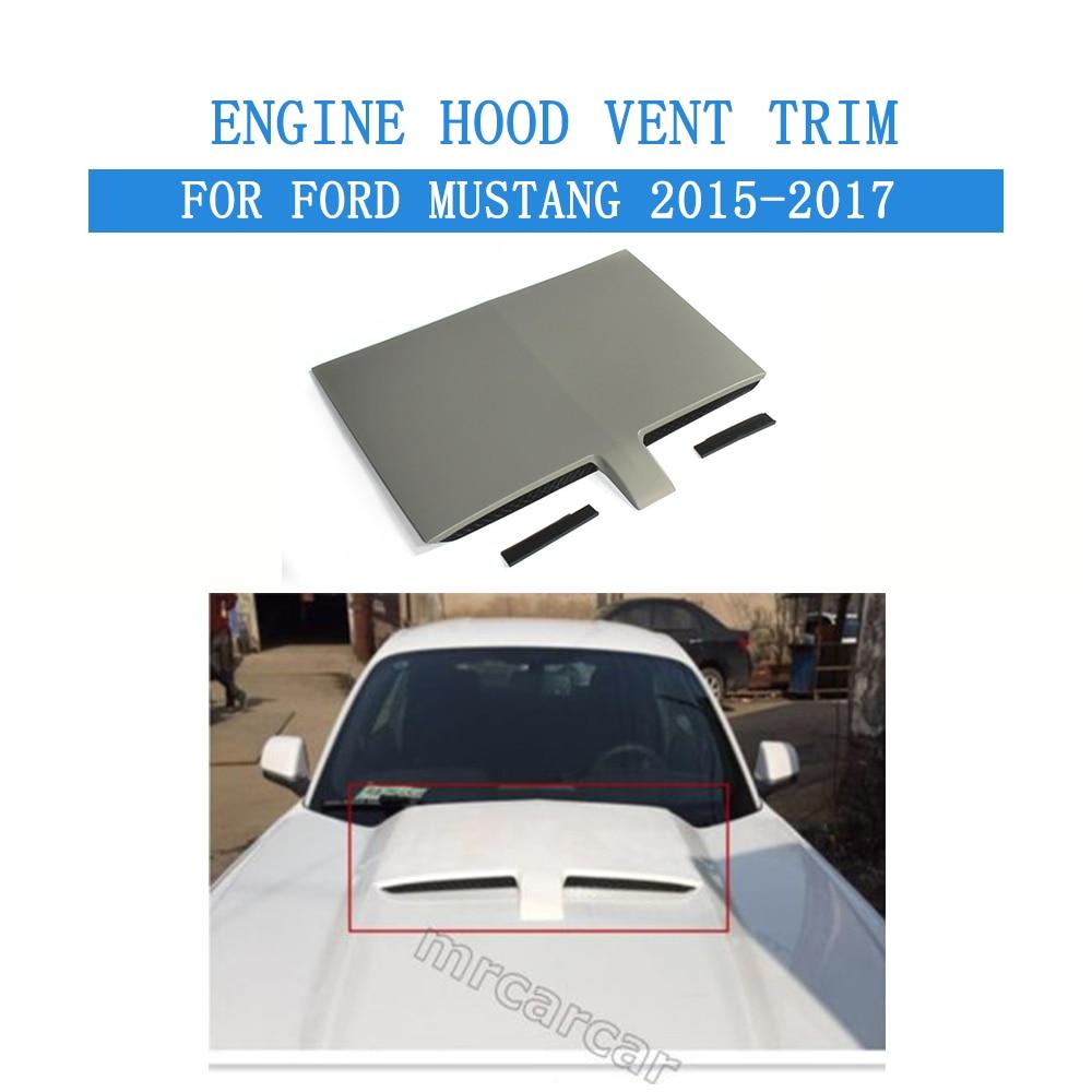 Plaque décorative de couverture de Machine d'évent de capot de moteur d'extracteur de chaleur d'air de pare-chocs avant de PP pour Ford Mustang 2015-2017 style de voiture