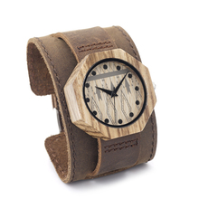 Retro Octagonal Wooden Bamboo Watches