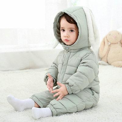 2018 Baby Boy Girl Clothes Cute Rabbit Ear Hooded Baby Romper Newborn Cotton Baby Clothing Jumpsuit Infant Baby Costume spring baby romper infant boy bear romper newborn hooded animal clothes toddler cute panda romper kid girl jumpsuit baby costume