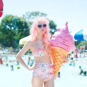 90cm Ice Cream Toy Float Inflatable Swimming Float for Pool Swim Ring Water Fun Pool Toys Hawaii Summer Beach Party Holiday Gift 1