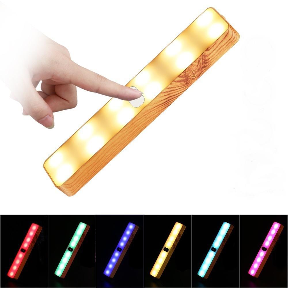 7 couleurs applique tactile interrupteur Led veilleuse USB chambre lampe armoire, couloir lumières extérieur voyage portable éclairage